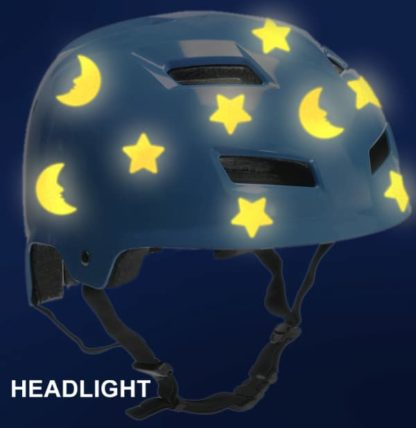 Hyper Reflective Moon and Stars Decal Set