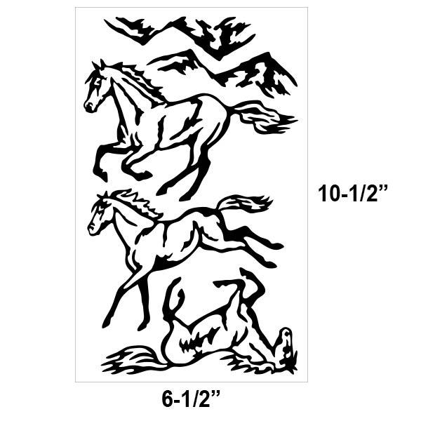 Running Horses Vinyl Decal Kit