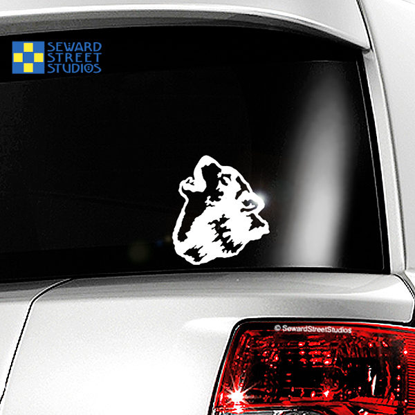 Howling Wolf Vinyl Decal