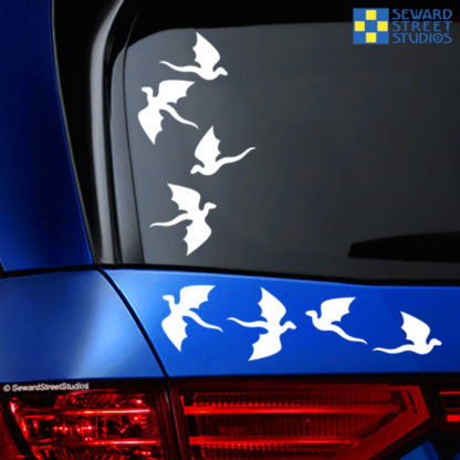 Flying Dragons Vinyl Decals
