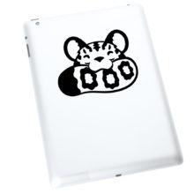 Seward Street Studios Snow Leopard Biting Tail Vinyl Decal