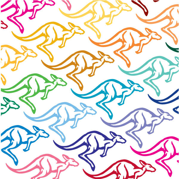 Kangaroo Vinyl Decal