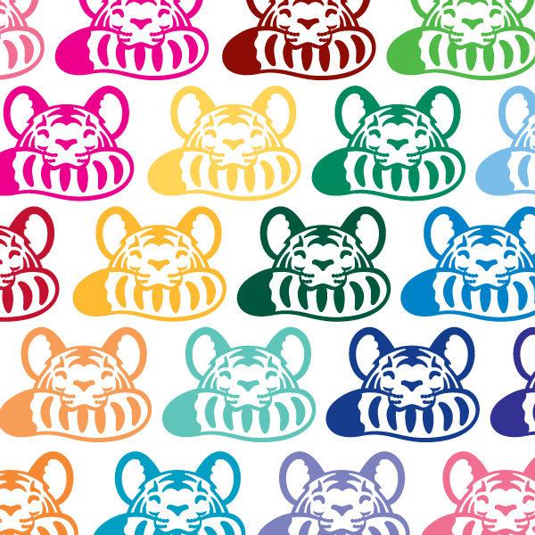Tiger Biting Tail Vinyl Decal