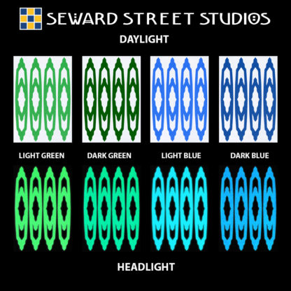 Hyper Reflective Southwest Decal Set - Light Green, Dark Green, Light Blue, Dark Blue