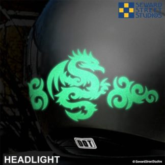 Hyper Reflective Tribal Dragon Decal Set