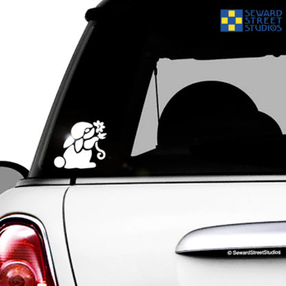Bunny with Flower Vinyl Decal