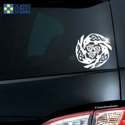 Triple Ravens Vinyl Decal