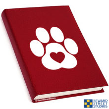 Seward Street Studios Heart Paw Vinyl Decal