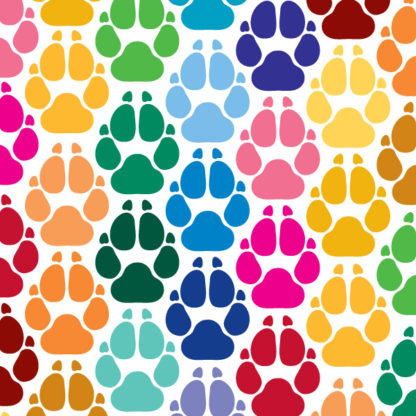 Dog Print Vinyl Decal
