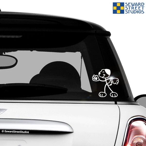 Stick Family Dog Vinyl Decal