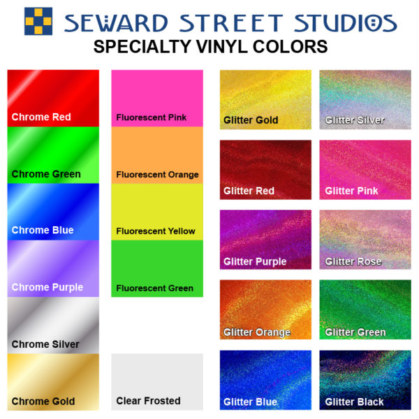 Specialty Vinyl Color Chart