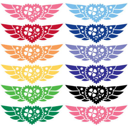 Steampunk Winged Heart Vinyl Decal