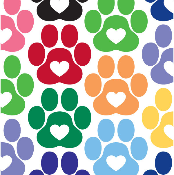 Heart Paw Vinyl Decal