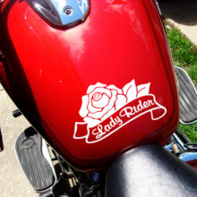 Lady Rider Vinyl Decal