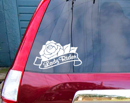Lady Rider Vinyl Decal