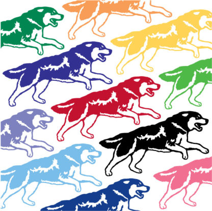 Running Wolf Vinyl Decal