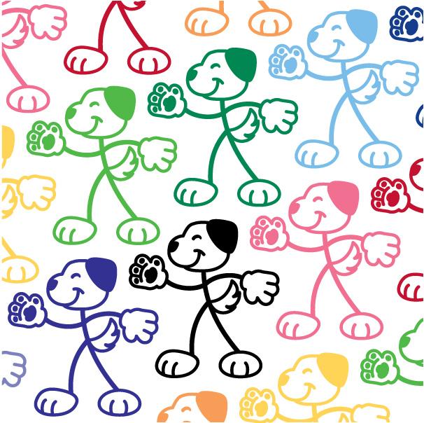 Stick Family Dog Vinyl Decal