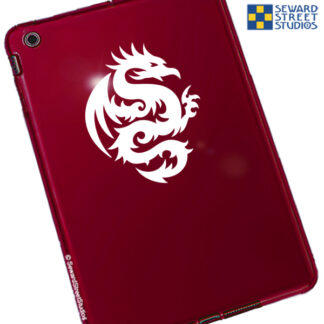 White Tribal Dragon Vinyl Decal