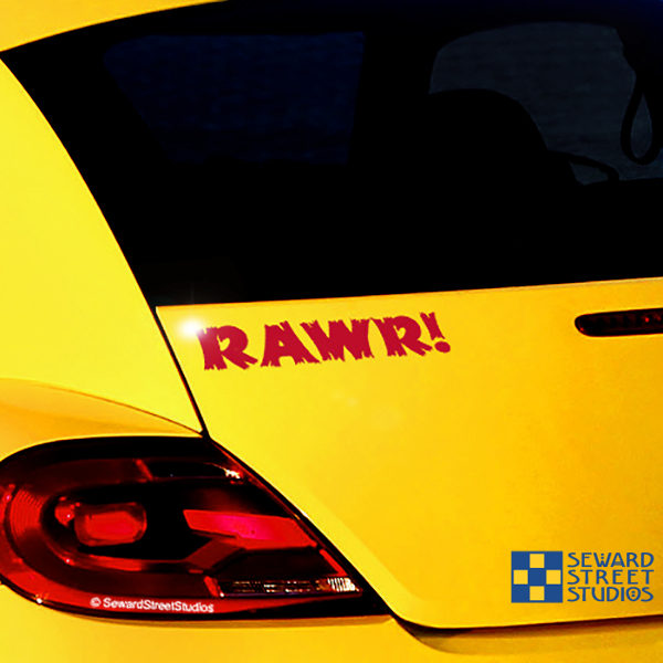 Seward Street Studios RAWR! Vinyl Decal