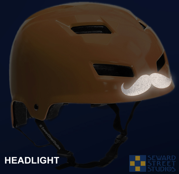 Hyper Reflective Moustache Decal