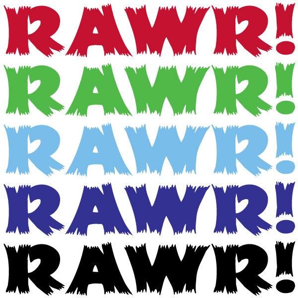 RAWR! Knot Vinyl Decal