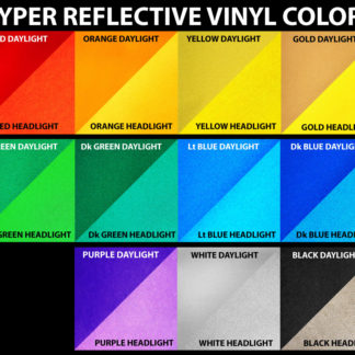 11 reflective vinyl color options