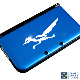 469 Seward Street Studios Roadrunner Decal shown on a blue game system