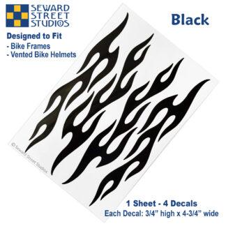 876 Black Flame Decal Set by Seward Street Studios