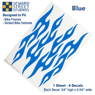 876 Blue Flame Decal Set by Seward Street Studios