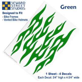 876 Green Flame Decal Set by Seward Street Studios