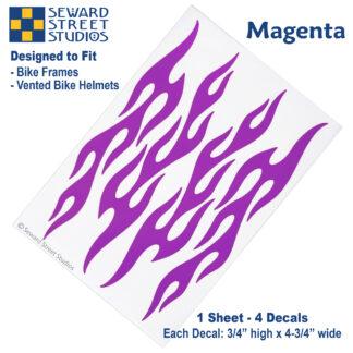 876 Magenta Flame Decal Set by Seward Street Studios