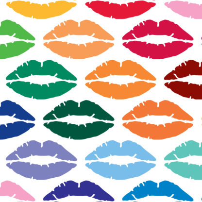 992 Seward Street Studios Lipstick Vinyl Decal. Shown in several different colors.