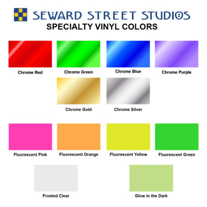 Specialty Vinyl Color Options