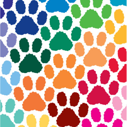 Paw Print Vinyl Decal