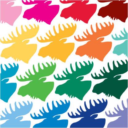 Seward Street Studios Moose Vinyl Decal. Shown in several colors