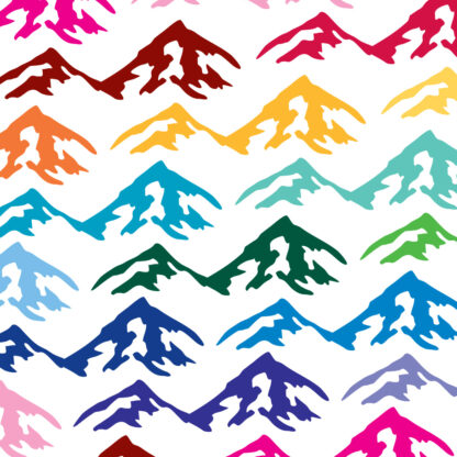 Seward Street Studios Mountains Vinyl Decal. Shown in several colors