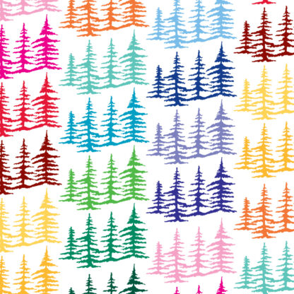 Seward Street Studios Trees Vinyl Decal. Shown in several colors