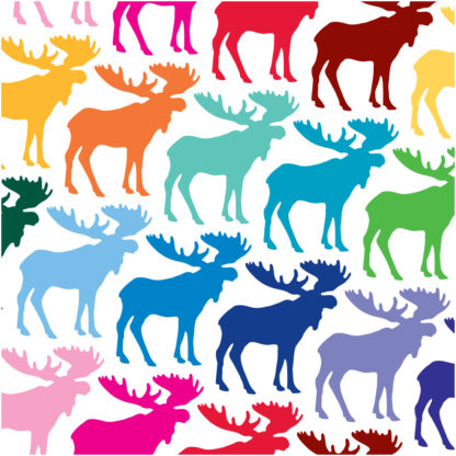 Seward Street Studios Moose Vinyl Decal. Shown in several colors