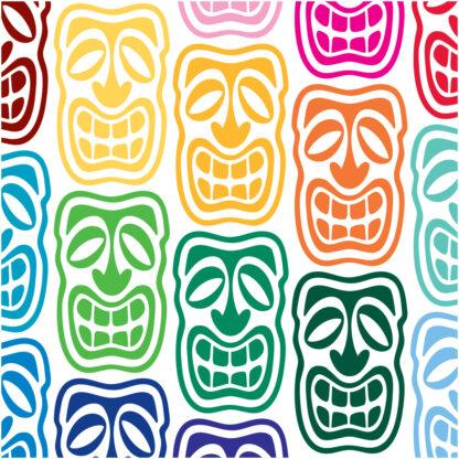 Seward Street Studios Tiki Head Vinyl Decal. Shown in several colors