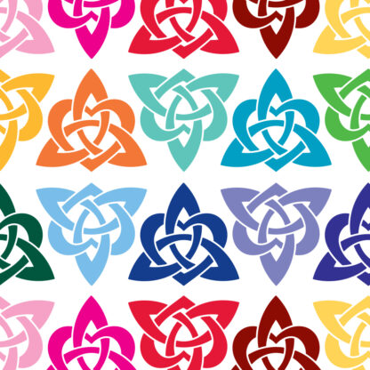 1157 Heart Triquetra Vinyl Decal by Seward Street Studios. Shown in several colors