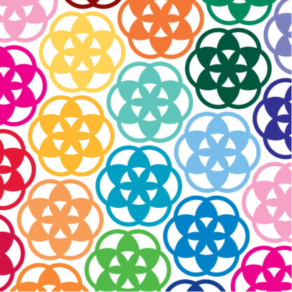 1167 Flower of Life Vinyl Decal by Seward Street Studios shown in several colors