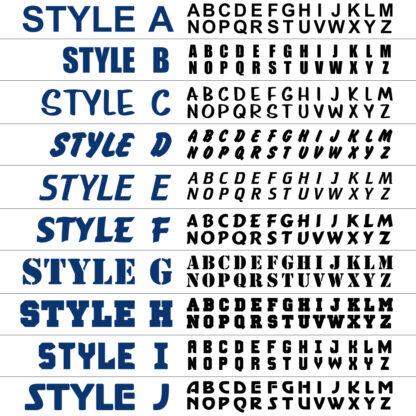 Seward Street Studios Letter Style Options Chart
