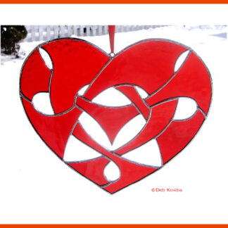 Celtic Knotwork Heart Stained Glass Pattern PDF