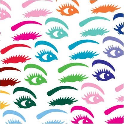 1198 Seward Street Studios Winking Eyes decal shown in several colors