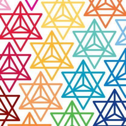 1166 Seward Street Studios merkaba decal shown in several colors