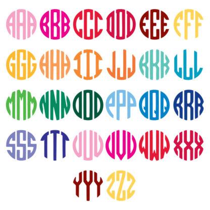 Monogram Letters Chart