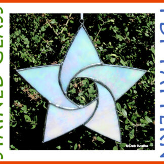 5 Point Curved Star Stained Glass Pattern PDF