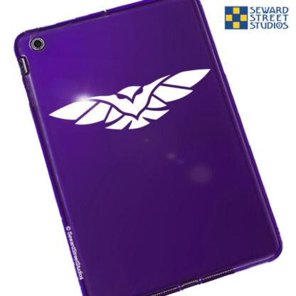 048 Seward Street Studios Owl Decal shown on a purple tablet