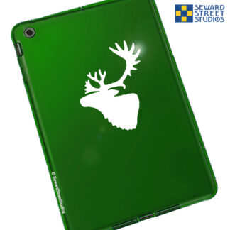 1188 Seward Street Caribou Head Decal shown on a green tablet