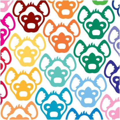 1082 Seward Street Studios Hyena Head Decal shown in several color
